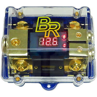 Bass Rockers 2 200A ANL Fuse Distribution Block Digital Display 0GA In 2 4GA Out