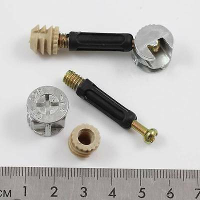 Locking Cam Bolts & Fixing Furniture *2 Sizes Cabinet Flatpack Fitting