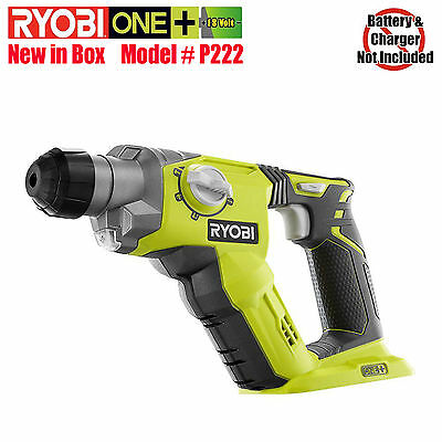 Ryobi P222 ONE+ 18-Volt 1/2 in. Cordless SDS-Plus Rotary Hammer Drill Bare Tool