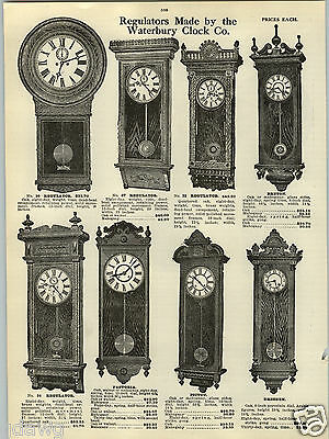"1914 PAPER AD Waterbury Clock Co Wall Regulator Clocks Seth Thomas 62"" 56"""