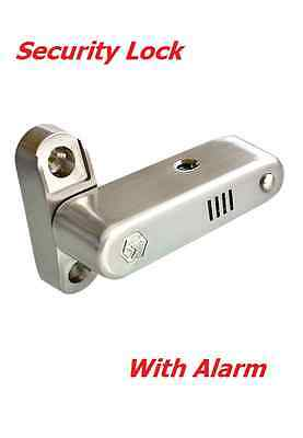 Home Security & Child Safety Lock With 110dB Alarm Stainless Steel, White color