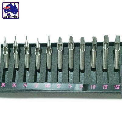 11pcs Stainless Steel Tattoo Tips Professional Needle Grip Tube Set JTAN13000