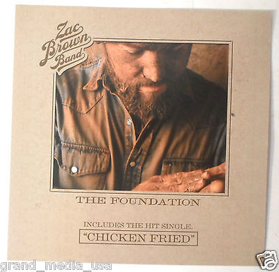 Zac Brown Band - The Foundation promotional Poster/Flat (2008) EXC CONDITION