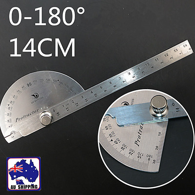 0-180 Protractor Angle Finder Arm Measuring Ruler Stainless Steel TSQU23180
