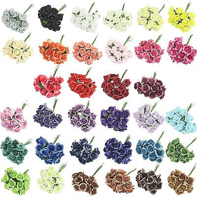 Bundles of 12 Mini Foam Rose Bunches! Bulk Wholesale Artificial Flowers Craft