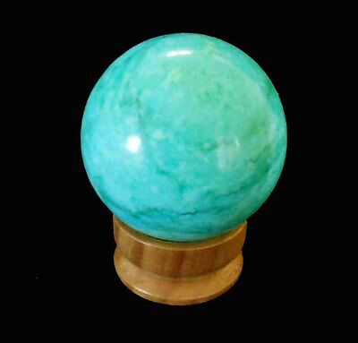 Gemstone Sphere - Howlite Coloured Green