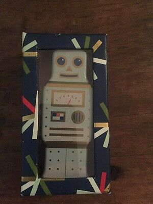 Genuine Fossil Collectors Tin Robot Decorative Piece *new*