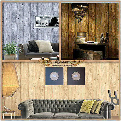 Premium Wood Panel Textured Realistic Wallpaper Roll Cottage House Shop Cafe SYD
