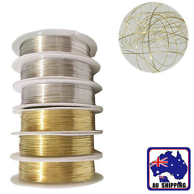 0.3~0.6mm Golden Silver Beading Wire Cord Jewelry DIY Necklace Bracelet JBRO261