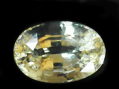 7.30 Cts Certified Loose Natural Oval Cut Yellow Feldspar Gemstone Ceylon-9315