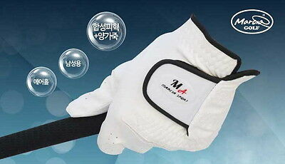 Marcia Premium Cabretta Men's Golf Glove Genuine Leather Left Durable Air Hole