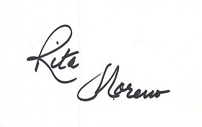 Rita Moreno Signed Card - A62 - West Side Story & Sinin' In The Rain