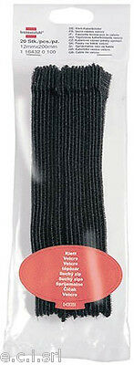 1164320100 20PZ CLAMPS CABLE CLAMP IN VELCRO 12mm X 200mm BLACK