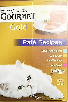 Purina Gourmet Gold Cat Food Pate Recipes 12 x 85 g - Pack of 8 96 Cans