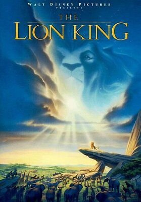 THE LION KING MOVIE POSTER 1 Sided ORIGINAL 27x40 MATTHEW BRODERICK