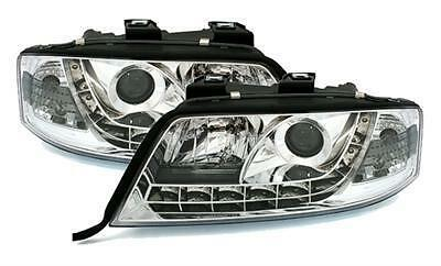 2 Feux Phare Avant Devil Eyes A Led Audi A6 C5 De 05/2001 A 04/2004