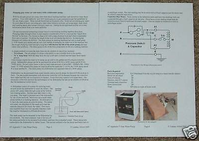 Gray Water Pump from a dishwasher: instructions