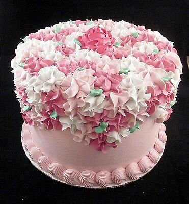 Gorgeous 8 Inch  Pink Victorian Rose Cake