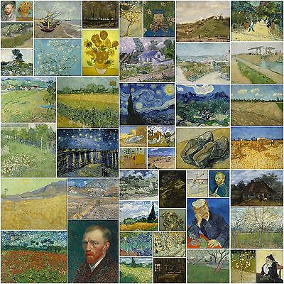122 vintage paintings by Vincent van Gogh in very high resolution on 1 DVD