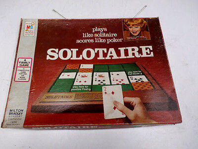 Vintage Solotaire Game 4330 Milton Bradley 1973 Lucille Ball on Box Cover