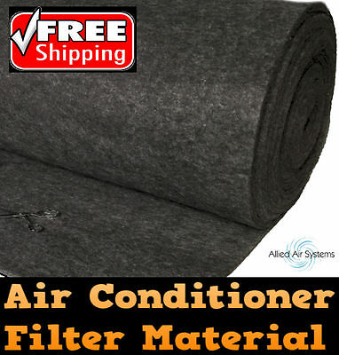 Air Conditioner Return Air Filter Media Material Aircon 550x1150mm Replacement