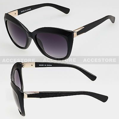 New Women's Cat Eye Sunglasses Fashion Retro Classic Designer Black Frame UV