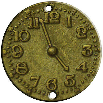 Brass Embellishments 15/Pkg -Clock Face