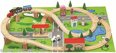 wooden train track set  locomotive 49 pc BRAND NEW BRIO BIGJGS