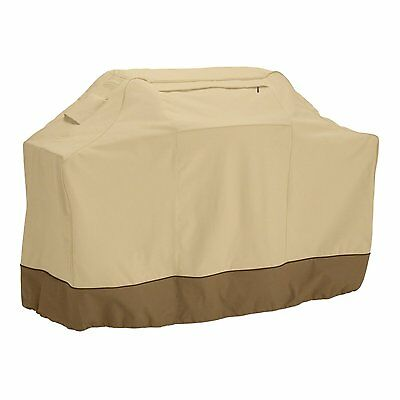 """Veranda Cart BBQ Cover Outdoor Gas Grill Heavy Duty Pebble X-Large up to 70"""" Wid"""