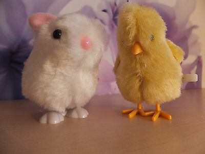 Large Wind Up Toy Hopping Bunny Or Chick For Cats Cto 26