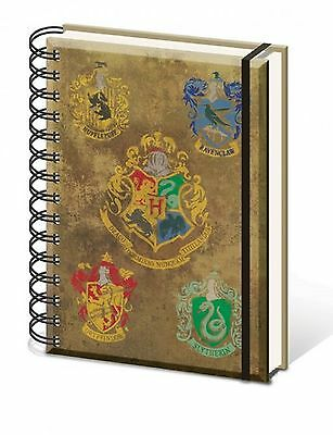 Official Harry Potter Hogwarts House Crest Notebook Lined A5 Film Gift