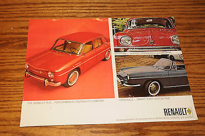 Renault R-8, Dauphine and Caravelle Advertising Brochure European Automobile Ad.