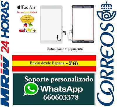 Pantalla Tactil Ipad Air Screen Digitalizador + Boton Home + Ic Chip Blanco