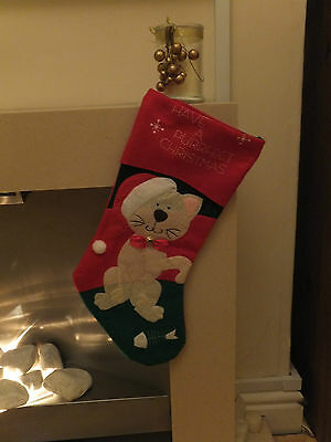 Cat Christmas Stocking Have A Purrfect Christmas  Cac 07