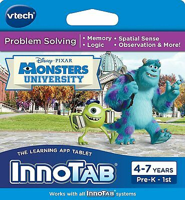 VTech InnoTab Learning Software Monsters University 8 SEALED NEW