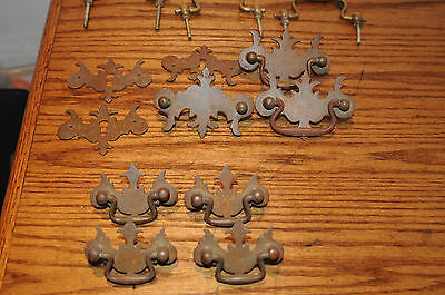Vintage Assorted Brass & Metal Drawer Pulls Assorted Sizes Antique Architectural