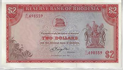 Rhodesia 2 Dollar Banknote, 1979, Uncirculated