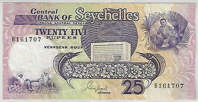 Seychelles 25 Rupees Banknote, 1989, Very Fine Condition