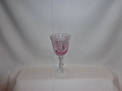 Vintage Glass Fostoria Pink Navarre Claret Wine Glass