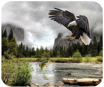 Mouse Pad Personalized Custom Thick Mousepad-Eagle 1 At A Yosemite River