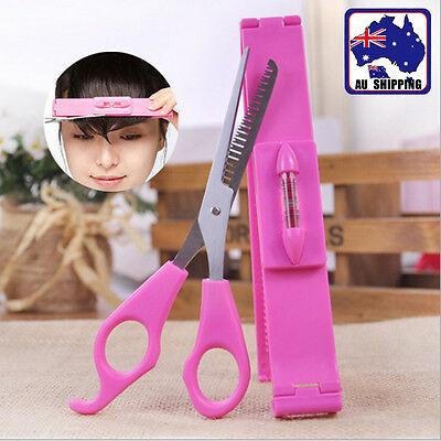 Hair Tools Bang Cut Kit Scissor+ Fring Clip Trimming Thinning Haircut  JHCO26708