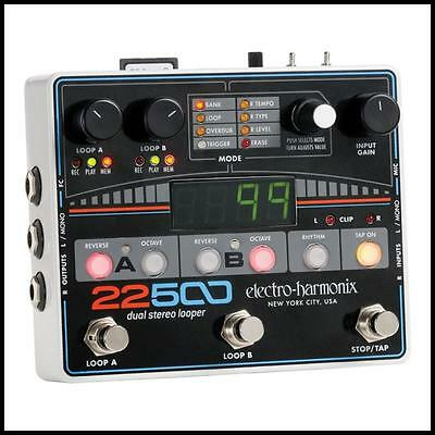 Electro-Harmonix 22500 Dual Stereo Looper Guitar Effects Pedal
