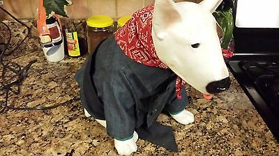 Spuds Mackenzie Light Up Plastic Dog With Clothes