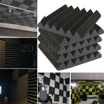 Lot Black Studio Acoustic Foam Sound Absorption Treatment Panel Tile 30X30X5CM