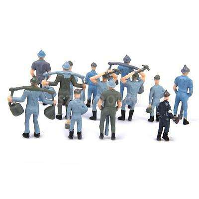 50pcs Painted Model Train Diorama Track Railroad Worker People Figures O 1:42