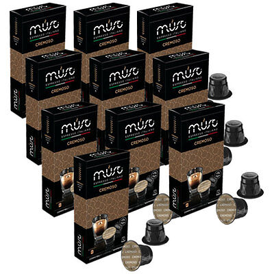 100 Nespresso Compatible Coffee Pods Capsules CREMOSO delicious Italian Coffee