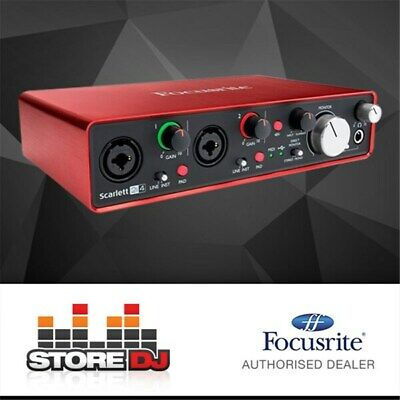 Focusrite Scarlett 2i4 USB Audio Interface w/ Pro Tools & Ableton Live (Generati
