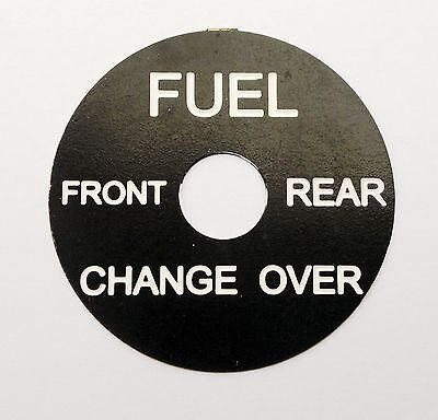 Land Rover Series 1 2 2a 3 Fuel changeover switch legend tag