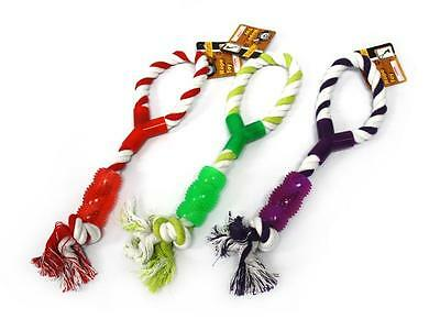 12 x LARGE 36cm Puppy Dog Tug Rope Toy Ball Dental Chew Toy Bulk Wholesale