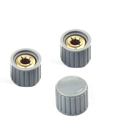 5pcs NEW  KYZ20-16-6 20*16*6mm Plastic Gray Potentiometer Knob Cover Cap m85
